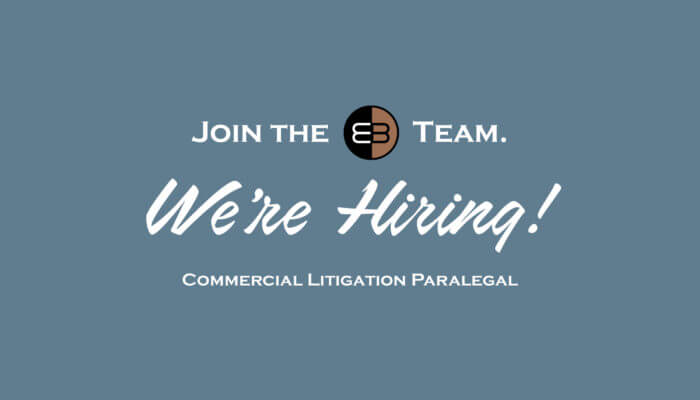 Hiring a Commercial Litigation Paralegal