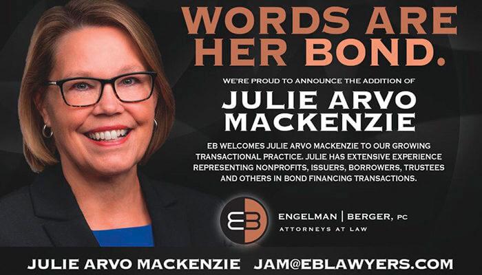 New Attorney Julie Arvo MacKenzie Engelman Berger