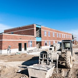 New School Building Under Construction